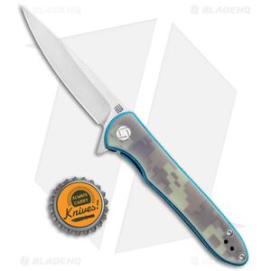 "Artisan Cutlery Small Shark Liner Lock Knife Digital Camo G-10 (3"" Stonewash)"