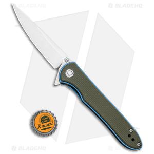 "Artisan Cutlery Small Shark Liner Lock Knife OD Green G-10 (3"" Stonewash)"