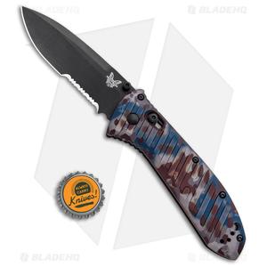 "Benchmade Presidio II Limited Edition Knife Rustic (3.7"" Black Serr) 570BK-1801"