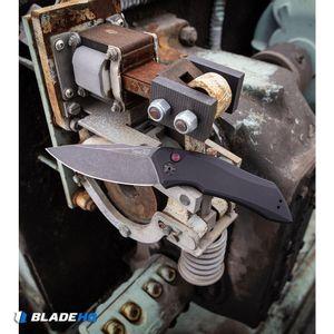 """Kershaw Launch 1 Automatic Knife Olive Green Aluminum (3.4"""" BlackWash) 7100OLBW"""
