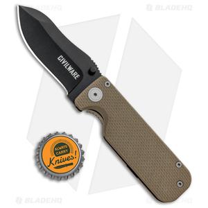 "Civilware Striker Frame Lock Knife Bronze G-10 (2.8"" Black PVD)"