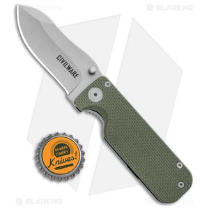 "Civilware Striker Frame Lock Knife Green G-10 (2.8"" Bead Blast)"