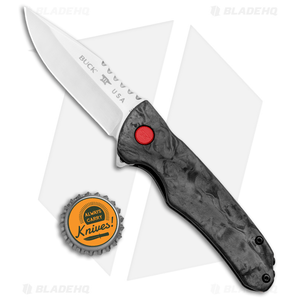 "Buck Sprint Pro Liner Lock Knife Marble Carbon Fiber (3.125"" Satin) 0841CFS"
