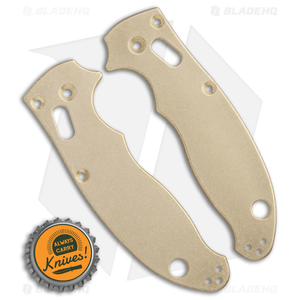 Flytanium Custom Brass Scales for Spyderco Manix 2 - Stonewash