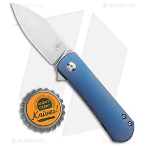 """Kizer Laconico Yorkie Frame Lock Knife Blue Ti (2.57"""" Stonewash) Ki3525A2"""