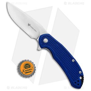 """Steel Will Knives Cutjack Flipper Knife Blue FRN (3.5"""" Satin) C22-1BL"""