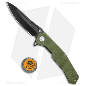 "Artisan Cutlery Zumwalt Liner Lock Knife Textured OD Green G-10 (3.8"" Black)"
