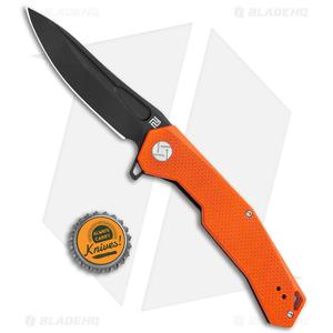 """Artisan Cutlery Zumwalt Liner Lock Knife Textured Orange G-10 (3.8"""" Black)"""