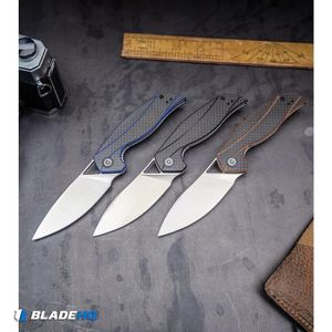 """CIVIVI Isham Anthropos Flipper Knife Black/Carbon Fiber (3.25"""" Satin) C903C"""