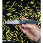 Benchmade-Bailout-AXIS-Lock-Knife-Black-Grivory--3.38--Gray-Serr--537SGY