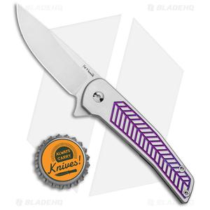 "Alliance Designs Hammond Scout Titanium Flipper Knife Purple (2.25"" Satin)"