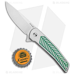 "Alliance Designs Hammond Scout Titanium Flipper Knife Green (2.25"" Satin)"