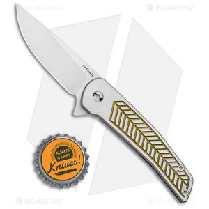 "Alliance Designs Hammond Scout Titanium Flipper Knife Gold (2.25"" Satin)"