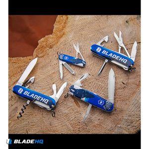 "Victorinox Swiss Army Knife Tinker Blade HQ Blue Crazy Wolf ""Lobo Loco"""
