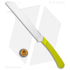 "Ontario Chromatics 7.8"" Bread Kitchen Knife Yellow Molded Plastic 3520"