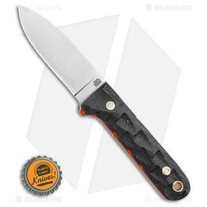 """LT Wright Next Gen Fixed Blade Knife Black Micarta Orange (3.25"""" Satin AEB-L)"""