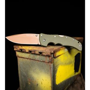 "Cold Steel Recon 1 Spear Point Lockback Knife Desert Warrior G-10 (4"" Copper)"