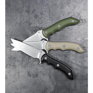 "WE Knife Co. Stonefish Fixed Blade Knife OD Green G-10 (4.46"" Stonewash) 919A"