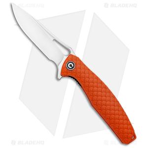 "CIVIVI Wyvern Folding Flipper Knife Orange FRN (3.5"" Satin) C902D"