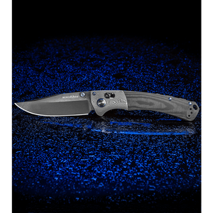 """Benchmade Gold Class Crooked River AXIS Lock Knife Carbon Fiber (4"""" Black DLC)"""