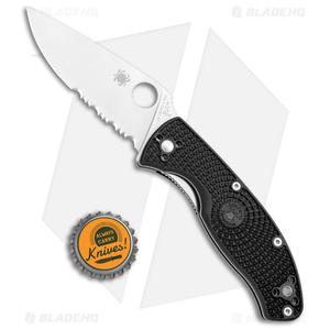 "Spyderco Tenacious Lightweight Folding Knife FRN (3.375"" Satin Serr) C122PSBK"