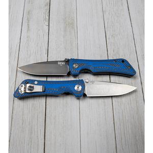 """Southern Grind Spider Monkey Liner Lock Knife Blue CF (3.25"""" M4 Satin)"""