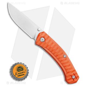 GiantMouse Vox/Anso ACE Iona Liner Lock Knife Orange G-10 (Stonewash)