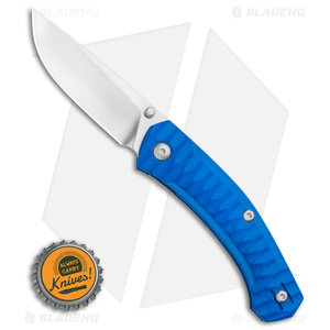 GiantMouse Vox/Anso ACE Iona Liner Lock Knife Blue G-10 (Satin)