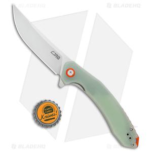 "CJRB Cutlery Gobi Liner Lock Knife Translucent Green G-10 (3.5"" Stonewash)"