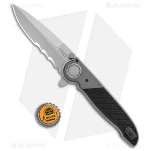 """CRKT M40-15 Deadbolt Lock Knife GRN/Aluminum (4"""" Bead Blast)"""