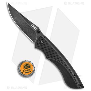 """CRKT Lerch Burnout Frame Lock Knife G-10/Carbon Fiber (3.625"""" Black) 4123K"""
