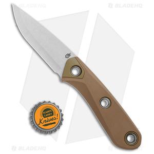 "Gerber Principle Fixed Blade Knife Brown Rubber (3"" Stonewash 420HC) 30-001657"