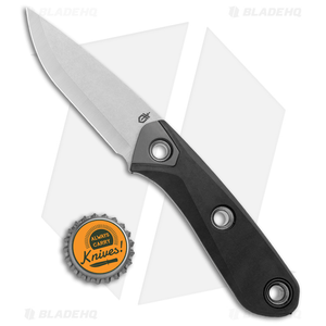 "Gerber Principle Fixed Blade Knife Black Rubber (3"" Stonewash 420HC) 30-001655"