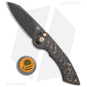 "Fox Knives Radius Folding Knife Copper CF (3"" Black M390) FX-550 CFB"