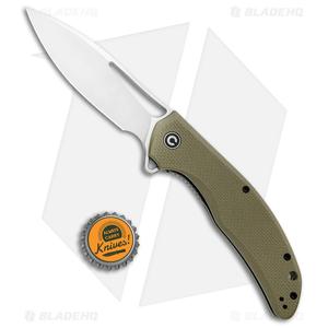 "CIVIVI Vexer Flipper Liner Lock Knife OD Green G-10 (3.96"" Satin)"