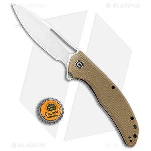 "CIVIVI Vexer Flipper Liner Lock Knife Tan G-10 (3.96"" Satin)"