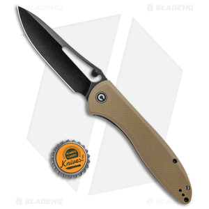 "CIVIVI Picaro Liner Lock Knife Tan G-10 (3.94"" Black Stonewash)"