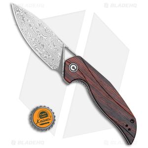 "CIVIVI Isham Anthropos Flipper Knife Sandalwood (3.25"" Damascus) C903DS-2"