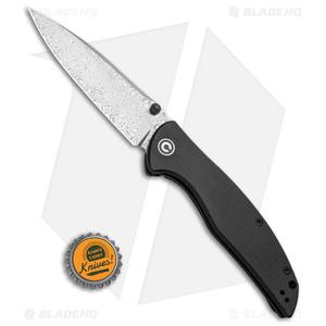 "CIVIVI Governor Liner Lock Knife Black G-10 (3.86"" Damascus) C911DS"
