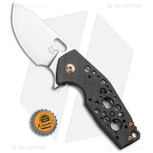 "Fox Knives Vox Suru Frame Lock Knife Carbon Fiber/Bronze Ti (2.3"" Satin M390)"