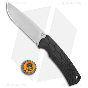 "Fox Knives Vox Core Fixed Blade Knife Black (4.4"" Stonewash)"