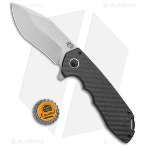 "M3 Tactical Tech Ranger Frame Lock Flipper Knife Carbon Fiber (3.5"" Stonewash)"