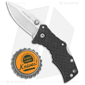 "Cold Steel Micro Recon 1 Spear Point Tri-Ad Lock Knife (2"" Stonewash) 27DS"