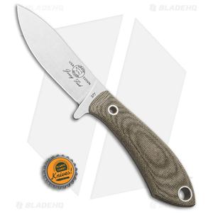 "White River Knives Sendero Pack Knife Olive Drab Micarta (3.25"" Stonewash)"