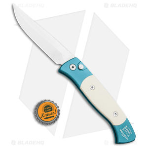 """Pro-Tech Brend 2 Small Automatic Knife Teal Ivory Micarta (2.9"""" Satin) 1251"""
