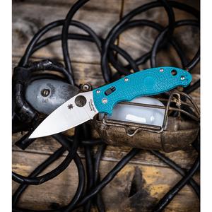 "Spyderco Manix 2 Lightweight Ball Lock Knife Blue FRCP  (3.4"" Satin SPY27)"