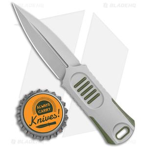 "WE Knife Co. OSS Dagger Fixed Blade Knife OD Green G-10 (2"" Stonewash)"