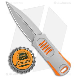"""WE Knife Co. OSS Dagger Fixed Blade Knife Orange G-10 (2"""" Stonewash)"""