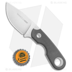"Viper Knives Berus Fixed Blade Knife Drop Point Black Micarta (2.6"" Satin)"