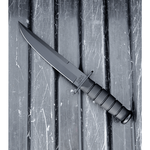 "Ka-Bar Modified Tanto Fighting/Utility Knife Fixed Blade (8"" Black) 1266"